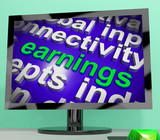 Earnings Screen Shows Wage Prosperity Career Revenue And Income