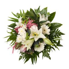 Blumenstrauß isoliert auf weißem Hintergrund