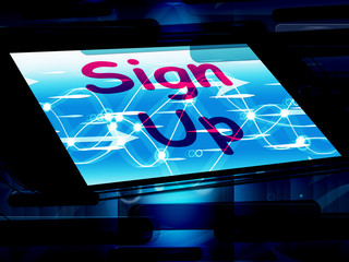 Sign Up On Screen Shows Join Membership Register