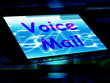 Voice Mail On Screen Shows Talk To Leave Message
