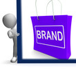Brand Shopping Sign Shows Branding Trademark Or Label