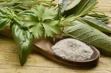 Sale alle erbe Herb salt Kräutersalz Sel à base de plantes