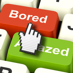 Bored Boring Computer Shows Boredom Or Amaze Reaction