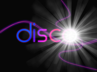 Groovy Disco Means Dancing Partying And Music