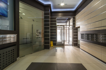lobby hall entrance of a residential building