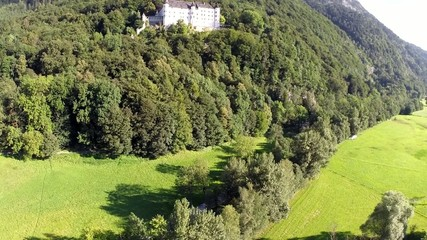 Historic Castle in the Mountains - Aerial Flight