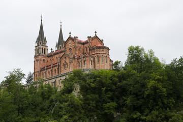 Famous basilica of Covadonga in Asturias, Spain