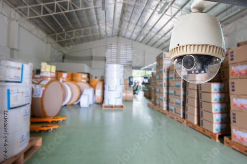 Kamera CCTV Działa w magazynie lub fabryce