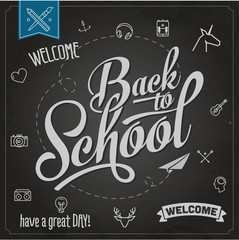 Back to school chalk background