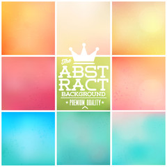 9 awesome colourful vector background