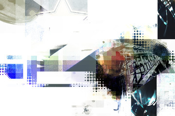 abstract collage background design