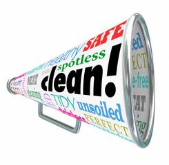 Clean Megaphone Bullhorn Advertising Safe Healthy Sanitized Prod