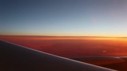 Aerial sunrise