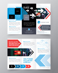 Tri fold Brochure Flyer design layout vector template in A4 size