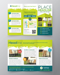Real Estate Brochure Flyer design vector template