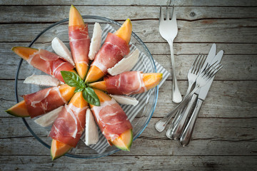 Melon Prosciutto Mozzarella