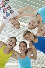 Teens in gymnasium