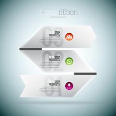 3 Step Ribbon