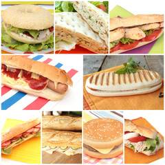 collage sandwichs