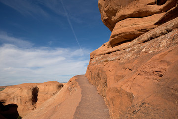 path on red cliff