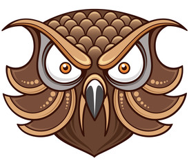 Vector illustration of Cartoon Owl head