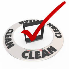 Clean Word Inspected Safe Check Mark Box Approval Seal