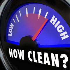 How Clean Words on Gauge Measuring Cleanliness Level Inspection