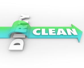 Clean Vs Dirty Arrow Over Word Cleanliness Wins Stay Safe Health