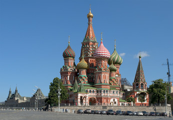 Храм Василия Блаженного на Красной площади. Москва