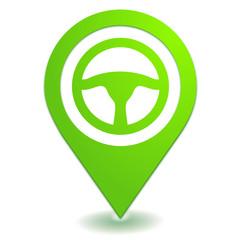 volant sur symbole localisation vert