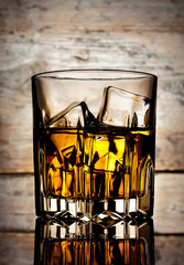 Glass of mellow whiskey