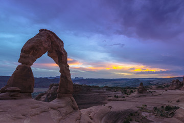 Delicate Arch after Sunset