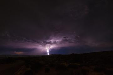 Lightning Strike at night in Canyonlands