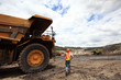 Leinwandbild Motiv Heavy mining industry worker