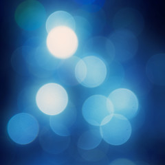 Abstract blue background bokeh - round dof