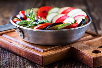 Ratatouille, stewed vegetable dish