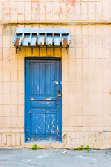 Blue Door with a Lock