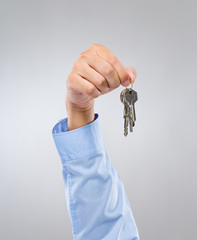 Man hold with key chain