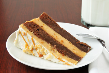 Peanut butter brownie cheese cake