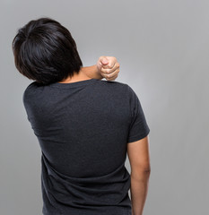 Man suffer from shoulder pain