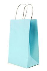 blue paste  Paper bag on white background