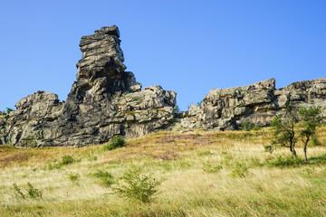 Teufelsmauer im Harz, bizarre Felsformation
