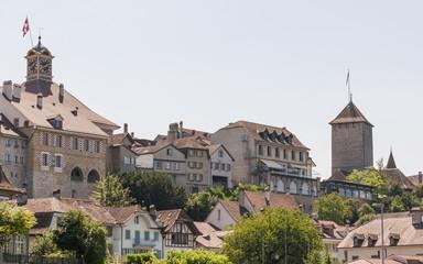 Murten, historische Altstadt, Schloss, Rathaus, Schweiz