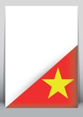 Illustration of an binder or holder with the flag of Vietnam