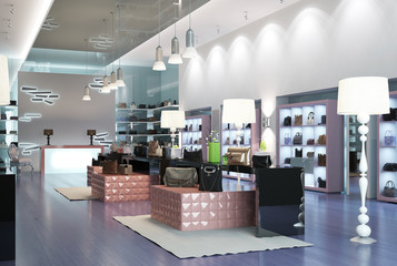 Store Interior of a modern