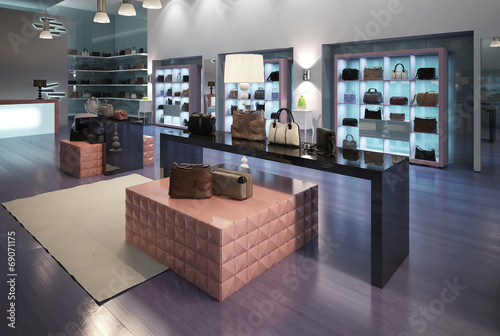 Leinwanddruck Bild Interior of a modern store