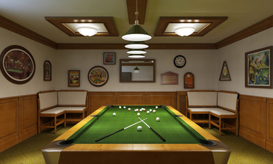 Billiards interior