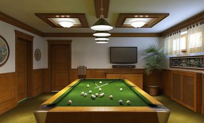 Billiards interior
