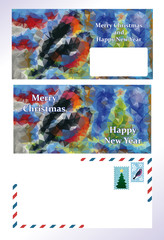 set of greeting Christmas letter