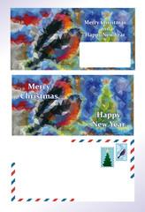 set of greeting Christmas letter